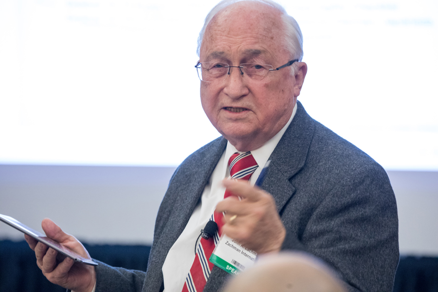 John Zachman presents at the 17th annual EA Conference in 2018